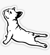 French Bulldog Yoga Sticker