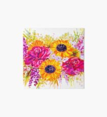 Bright, Cheerful, and Pretty Flowers Art Board