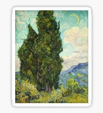 Vincent Van Gogh - Cypresses. Sticker