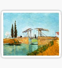 Vincent Van Gogh - Langlois Bridge at Arles. Sticker