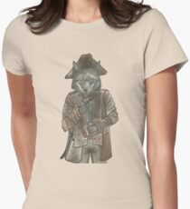 Pirate Wolf Womens Fitted T-Shirt