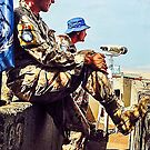 UN SOLDIERS OVERLOOKING SYRIAN BORDER (Golan Heights, Israel) by ZannaLea