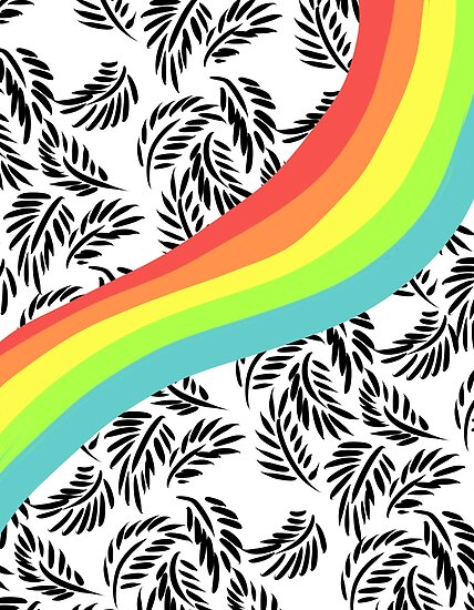 Rainbow Black Floral by arah jewel