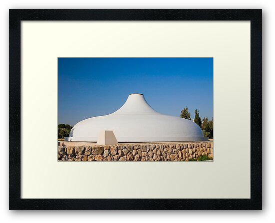 Jerusalem, Israel, The Shrine of the Book at the Israel Museum, focuses on the Dead Sea Scrolls and other ancient scriptures by PhotoStock-Isra