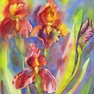 Fire Iris by bevmorgan