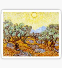 Vincent Van Gogh - Olive Treees with Yellow Sky. Sticker