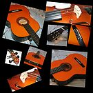 Hommage an Rodrigo - Gitarre und Violine Collage von BlueMoonRose