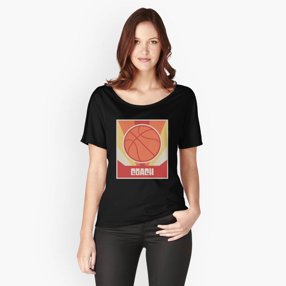Vintage Basketball Coach Poster Women's Relaxed Fit T-Shirt Front