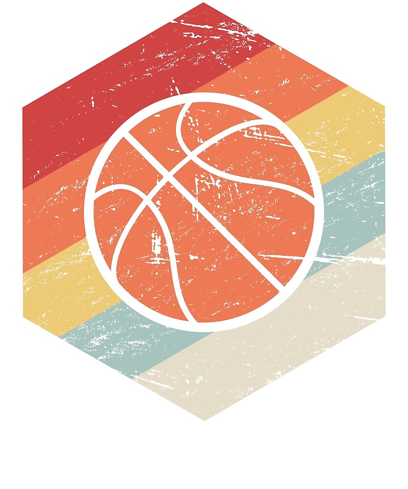 Vintage Retro Basketball Icon by Nathan Darks