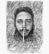 Post Malone BnW Poster