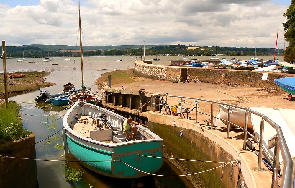 Boat Builder, Lympstone. Devon. UK by JPPhotography