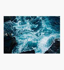 Ocean waves breaking Photographic Print