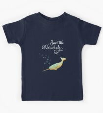 Save the Narwhals. Rettet die Wale Kids Clothes