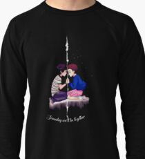 mike and eleven stranger things Lightweight Sweatshirt