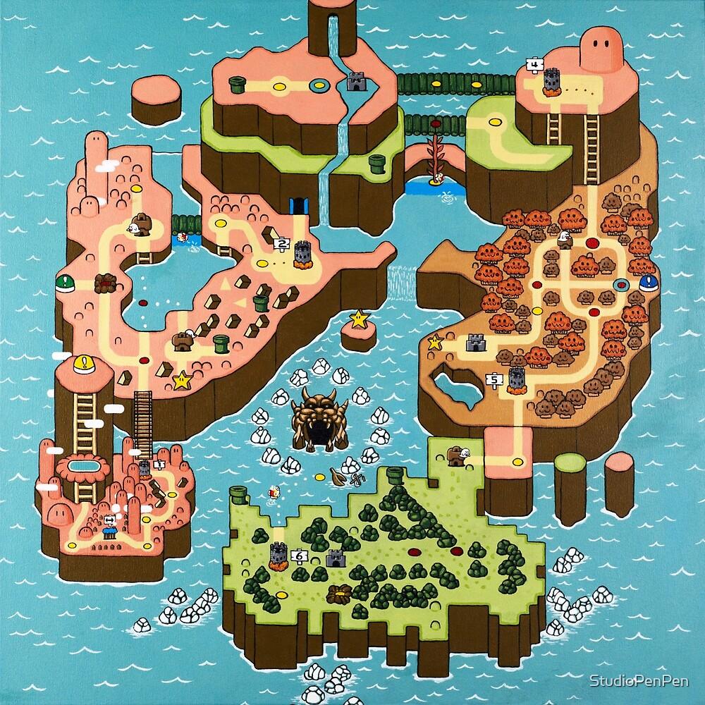 Super Mario World in Autumn by StudioPenPen