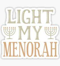 Lite My Menorah Chanukah Hanukkah Jewish  Sticker