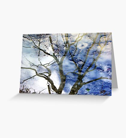 Ice puddle reflections Greeting Card