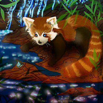 Red Panda by SyrazelNytRose