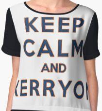 Keep Calm and Kerryon Football Women's Chiffon Top