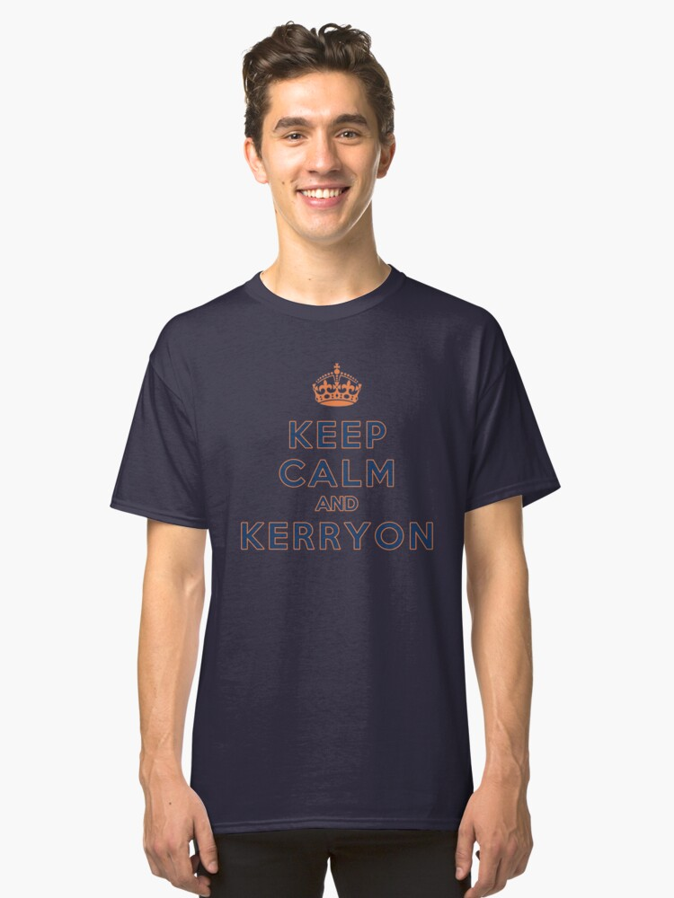 Keep Calm and Kerryon Football Classic T-Shirt Front