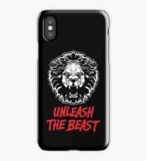 Unleash The Beast - Lion - Gym Quote iPhone Case/Skin