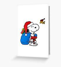 Snoopy Santadog Greeting Card