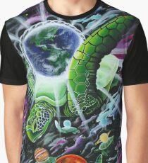 Cosmic Turtle Graphic T-Shirt