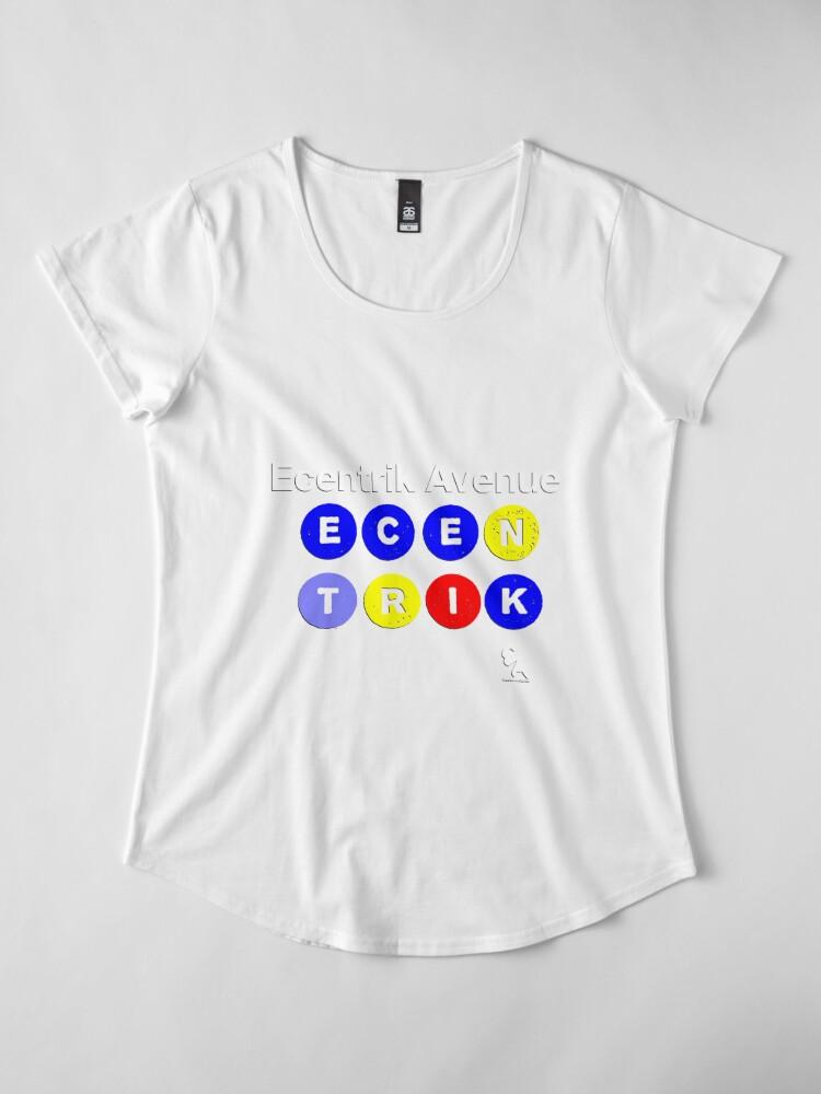Alternate view of Ecentrik Avenue Premium Scoop T-Shirt