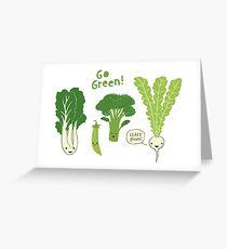 Go Green! (Leafy Green!) Greeting Card