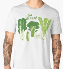 Go Green! (Leafy Green!) Men's Premium T-Shirt