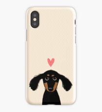 Dachshund Puppy Love iPhone Case