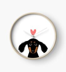 Dachshund Puppy Love Clock