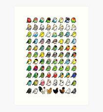The Chubby Bird Collection Art Print