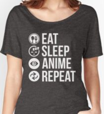 Eat Sleep Anime Repeat Women's Relaxed Fit T-Shirt