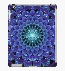 Accordant Electric Blue Fractal Flower Mandala iPad Case/Skin