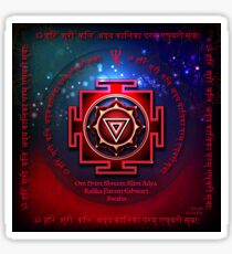 Kali Yantra with the Great Fifteen-Syllable Mantra  Sticker