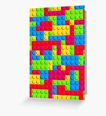 Coloured Bricks Greeting Card