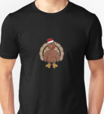 Funny Noel Christmas Turkey Santa Hat Gift Ideas T-Shirt