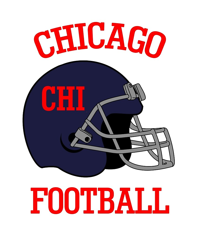 Chicago Football T-Shirt for Men and Women  by AllStarMerch