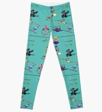 Earthworm Jim Collage Leggings