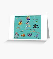 Earthworm Jim Collage Greeting Card