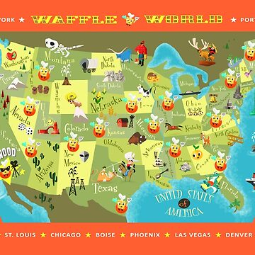Waffle World Map by Ellador