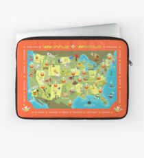 Waffle World Map Laptop Sleeve