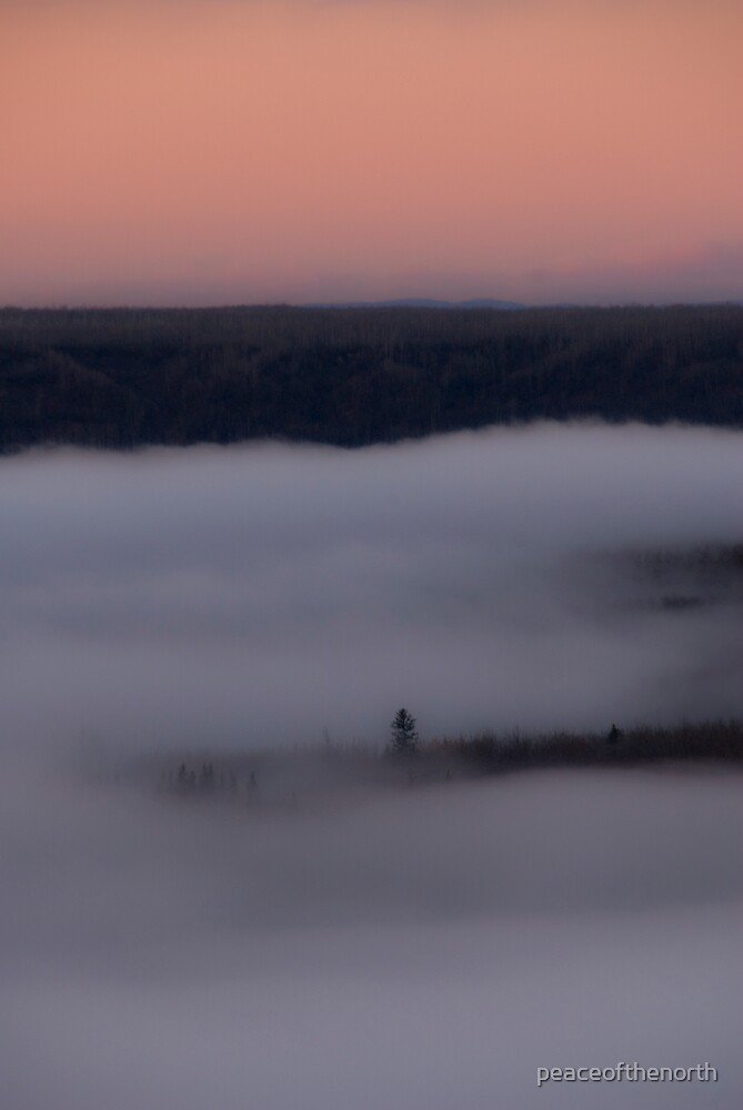 Peace River Fog Westward by peaceofthenorth
