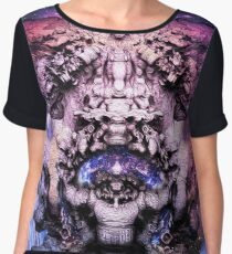 "FistVision: ""Cosmic Goddess"" Psychedelic Space Art T-Shirt Chiffon Top"