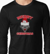 Funny Ugly Christmas Wolf Santa Hat Gift Ideas T-Shirt