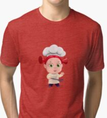 Cute Girl Cooking Funny Tri-blend T-Shirt