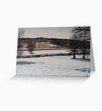 Chatsworth House In The Snow Greeting Card