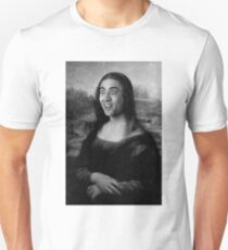 Mona Lisa ~ Nicolas Cage (Black & White) T-Shirt