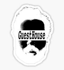 GuestHouse Face Logo White Sticker